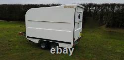 Bateson 120v Twin Essieu Unbraked Box Van Trailer 750kg