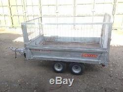 Bateson 720 Caged Double Essieu Non Freinée 750 KG Narrow Remorque 7 X 4 Lit Avec Treuil