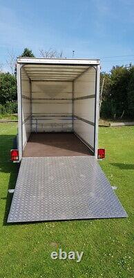 Blue Line Box Van Twin Axle Trailer Danish Trailley 14 X 6 X 7 3500kg
