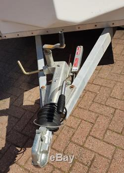 Blueline 8ftx5ft Double Axle Box Car Remorque Fourgon Blue Line Towavan Grande Cond