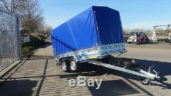 Box Car Remorque 10ft X 5ft Couverture De Toile 5bft Avec Unbrakde 750kg À Deux Essieux