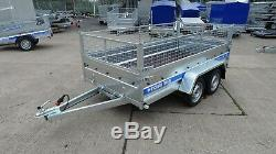 Brand New Cage Mesh Remorque 10ft X 5ft Double Essieu Mgw Car Trailer 3m X 1,5m