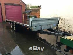 Brenderup 17ft 3000kg Farm Constructeur Remorque / Plat Voiture Transporter Double Essieu