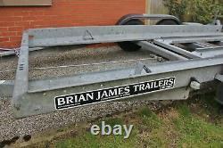 Brian James Car Transporter Trailer, 1 Propriétaire, Prix Comprend La Tva, Essieu Jumeau
