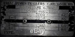 Brian James Race Enclosed / Classic Car Transporter Remorque, 3000 Kg, Double Essieu