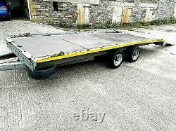 Brian James Remorque De Voiture 3500kg 5.0 X 2.020 Double Axle Clean
