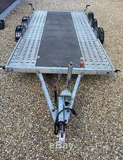 Brian James Voiture A4 Transporter Remorque Double Essieu + Extras 4.5m Bon