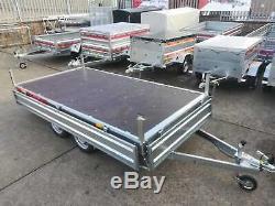 Caged Double Axle Trailer 10 X 5 750kg Côtés Goutte