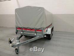 Camping Car Double Axle Trailer 8,7ft X 4,1ft 750 KG Sans Frein