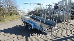 Car Trailer 3,05mx1,5m Twin Axle Al-750kg Sans Frein Ko Box Trailer Haute Couverture 1,8