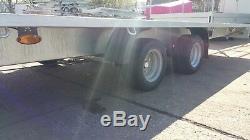 Car Transporter Remorque 16,4ft X 7,2ft Double Essieu À Plat 2700 KG