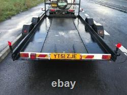 Car Transporter Trailer Twin Essieu 2.5t 18ft 5.5m-winch-led Lumières