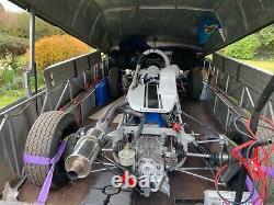 Clam Shell Race / Sports Car Trailer Transporter Twin Axle Historic Car Trailer