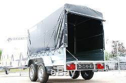 Couverture De Toile 4 Remorque De Voiture À Double Essieu Classe 8x4 750kg À Plat + Remorque De Voiture Gratuite