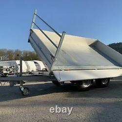 Debon Tipper Trailer Pw3 Twin Axle Three Way Electric Tipper 3500kg Mgw Inc. Tva