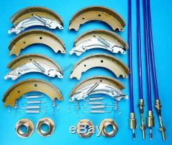 Double Essieu 200x50 Knott Remorque Chaussures Et Câbles De Frein Kit Pour Tt85g Ifor Williams