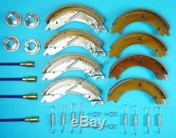 Double Essieu 250x40 Cable & Trailer Brake Shoe Kit Pour Lm166g Ifor Williams