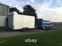 Double Essieu Box Remorque, Motor Bike, Catering