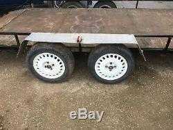 Double Essieu Car Transporter Remorque À Plat
