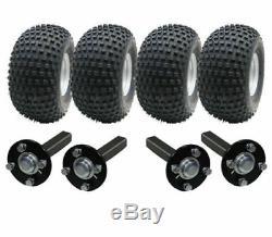 Double Essieu Kit Remorque Vtt Quad Remorque 4 Roues + Quatre Hub & Talon Aucun Attelage