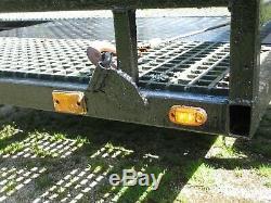 Double Essieu Voiture Transpoter Remorque, Heavy Duty, Treuil, Prêt À Partir. Étage Grp