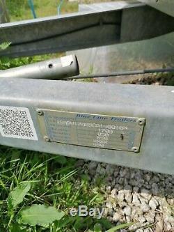 Double Essieux Freinés Boîte Remorque Rampe Porte Faite Par Blue Line Trailers Mgw 1700kgs
