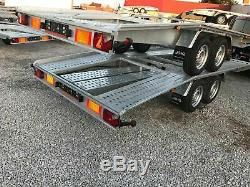 Double Remorque Transport De Voiture Essieu 4.5mx 2.1m 3000 KG DMC