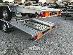 Double Remorque Transport Voiture Essieu 4.5mx 2700 KG DMC 2,1 M