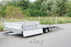 Drop Sides 4 Remorque À Plate-forme 14,7x7 2700kg Twin Axle + Free Trailer