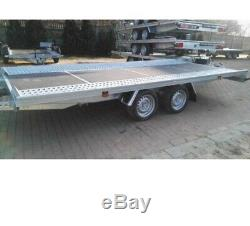 Essieu Flattwin Lit Remorque Transport De Voiture 5m X 2,1m 3000dmc, Surbaissée R13
