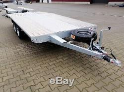 Essieu Flattwin Lit Remorque Transport De Voiture 5m X 2,1m 3000dmc, Surbaissée R14