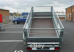 Essieu Remorque Voiture Double 8.7x4.2ft Maille Cage Basculement Cage Benne Basculante 263 X 129cm Couverture