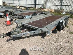 Ex-location Indespension Ct27147 14ft Double Essieu Transporter Remorque Voiture 2700kg