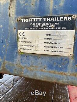 Flat Axle Triffitt Double Agricole Lit Remorque (paille, Foin, Ensilage, Plante)