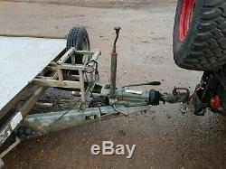 Flat Bed Remorque 16 Pieds Double Axe De Roue Sous Ifor Williams, Remorque De Voiture # 106