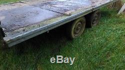 Flat Lit Simple Axle Trailer 12 X 6. B & B Trailers