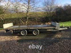 Graham Edwards Twin Axle Flat Bed Trailer 14 X 66 Avec Rampes De Chargement