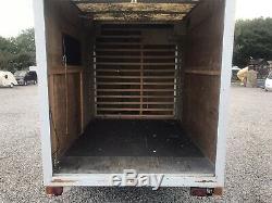 Grand Essieu Double Heavy Duty Remorque Boîte Avec 4 Rouleaux Freinée Portes D'obturation L @@ K