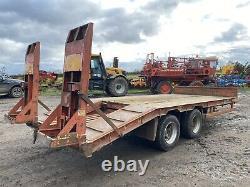 Herbst 16 Ton 20ft Double Essieu Remorque Surbaissée Pour Tracteur Plus Tva
