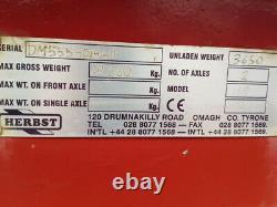 Herbst 24ft Double Essieu De 15 Tonnes Carry Remorque Lowload Usine 2014, Air & Oil Brak