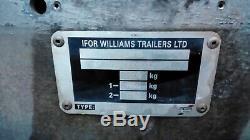 Ifor Remorque Double Essieu Lm146g Williams X 3500 KG 14ft 6 6 Pi