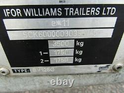 Ifor Williams Box Trailer Twin Axle Box Trailer, Bv126g, Vgc, 3500kg