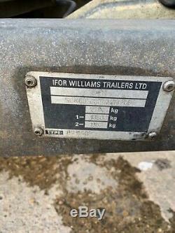 Ifor Williams Bv105g Remorque Fourgon Double Essieu Pas De Tva