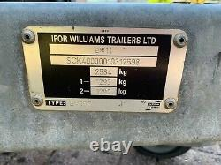 Ifor Williams Bv85g Twin Axle Nouveau Service De Freinage Récent