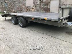 Ifor Williams Car Transporter Remorque 16ft Beaver Tail Double Essieu Remorque Plateau