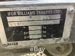 Ifor Williams Double Axle Remorque Ladder Rack (gd85)