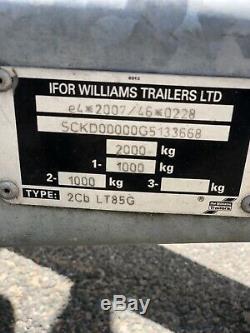 Ifor Williams Double Axle Trailer Galvanisé Dropside