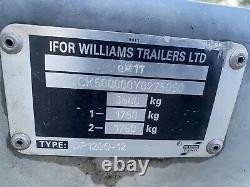 Ifor Williams Dp120g-12 Twin Axle Remorque De Bétail Avec Portes Et Decks 3500kg