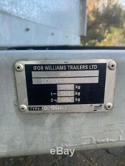 Ifor Williams Gd 105 Remorque À Essieu Double (10 X 5)