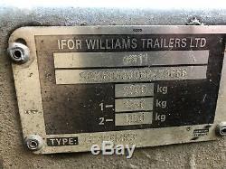 Ifor Williams Gd 105mk3 Double Remorque À Essieu (10 X 5)